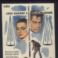 Cine: P-6606- EL MAGISTRADO (IL MAGISTRATO) (TEATRO CERVANTES - MALAGA) JOSÉ SUÁREZ - FRANÇOIS PÉRIER. Lote 185995223