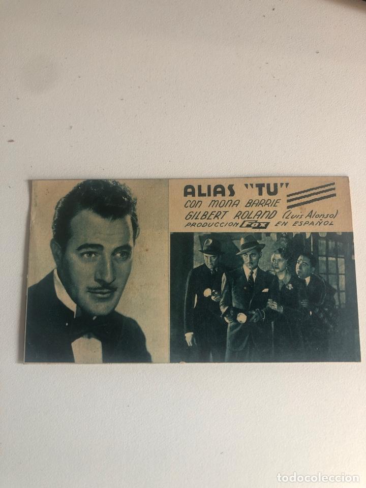 ALIAS TU (Cine - Folletos de Mano - Acción)