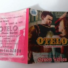 Cine: OTELO-DOBLE CON PUBLICIDAD. Lote 186113793