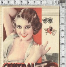 Cine: FOLLETO DE MANO WARNER BROS FIRTSBNATIONAL FILMS CENTRAL PARK - 193X.. Lote 186173433