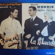Cine: (PG-190654)PROGRAMA DE CINE ENTRE EL AMOR Y LA MUERTE - CINE KURSAAL - AÑO 1936 . Lote 186220983