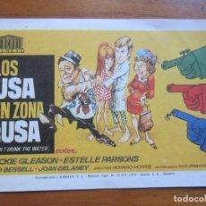 Cine: PROGRAMA DE CINE FOLLETO DE MANO-LOS USA EN ZONA RUSA-AÑOS 50-60 SIN PUBLICIDAD . Lote 186286888