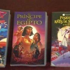 Cine: DIBUJOS ANIMADOS LOTE DE 5 PELICULAS VIDEOS VHS INFORMACIÓN EN DESCRIPCION. Lote 186291283