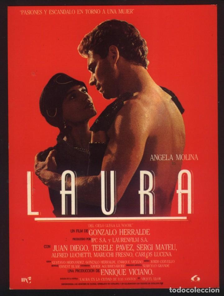P-5126- LAURA, DEL CIELO LLEGA LA NOCHE (ÁNGELA MOLINA - JUAN DIEGO - SERGI MATEU - TERELE PÁVEZ) (Cine - Folletos de Mano - Drama)