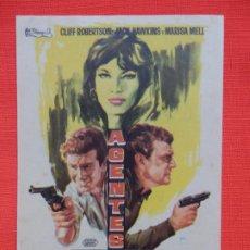 Cine: AGENTES DOBLES, IMPECABLE SENCILLO, CLIFF ROBERTSON, C/PUBLI KURSAAL 1966. Lote 186433228