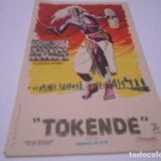 Cine: PROGRAMA O FOLLETO DE CINE SIN PUBLICIDAD - TOKENDE - 1. Lote 186433930