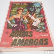 Cine: PROGRAMA O FOLLETO DE CINE SIN PUBLICIDAD - AGUAS AMARGAS - 2. Lote 186433988