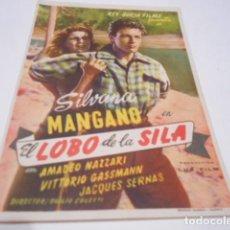 Cine: PROGRAMA O FOLLETO DE CINE SIN PUBLICIDAD - EL LOBO DE LA SILA - 4. Lote 186434176