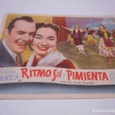 Cine: PROGRAMA O FOLLETO DE CINE SIN PUBLICIDAD - RITMO SAL Y PIMIENTA - 5. Lote 186434243
