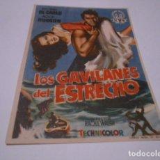 Cine: PROGRAMA O FOLLETO DE CINE SIN PUBLICIDAD - LOS GAVILANES ESTRECHO - 6. Lote 186434367