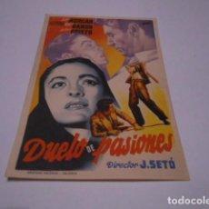 Cine: PROGRAMA O FOLLETO DE CINE SIN PUBLICIDAD - DUELO DE PASIONES - 7. Lote 186434448