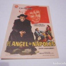 Cine: PROGRAMA O FOLLETO DE CINE SIN PUBLICIDAD - EL ANGEL DE NAPOLES - 9. Lote 186434596