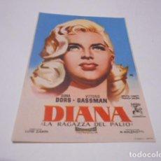 Cine: PROGRAMA O FOLLETO DE CINE SIN PUBLICIDAD - DIANA - 11. Lote 186434758