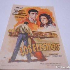 Cine: PROGRAMA O FOLLETO DE CINE SIN PUBLICIDAD - LOS ELEGIDOS - 12. Lote 186434830