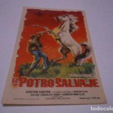 Cine: PROGRAMA O FOLLETO DE CINE SIN PUBLICIDAD - EL POTRO SALVAJE - 13. Lote 186434867