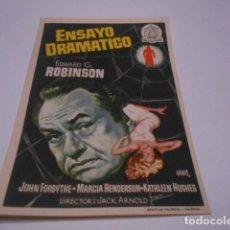 Cine: PROGRAMA O FOLLETO DE CINE SIN PUBLICIDAD - ENSAYO DRAMATICO - 14. Lote 186434903