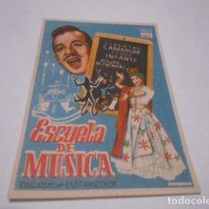 Cine: PROGRAMA O FOLLETO DE CINE SIN PUBLICIDAD - ESCUELA DE MUSICA - 15. Lote 186434945