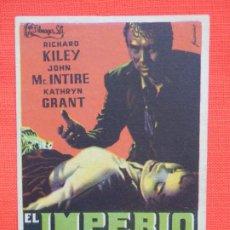 Cine: EL IMPERIO DEL TERROR, IMPECABLE SENCILLO, RICHARD KILEY, C/PUBLI CINE IDEAL. Lote 186435122