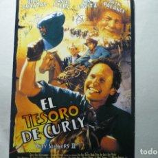 Cine: LAMINA TARJETA EL TESORO DE CURLY .- BILLY CRISTAL. Lote 187119272