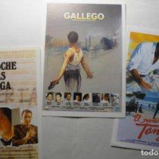 Cine: LOTE PROGRAMAS MODERNOS LA NOCHE MAS LARGA.-GALLEGO-EL SUEÑO DE TANGER. Lote 187119807