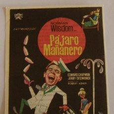 Cine: PROGRAMA DE CINE PAJARO MAÑANERO. Lote 187189043