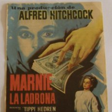 Cine: PROGRAMA DE CINE MARNIE LA LADRONA. Lote 187189207