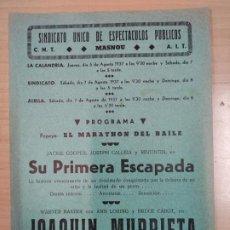 Cine: PROGRAMA DE CINE 1937. Lote 187193928
