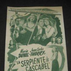 Cine: LA SERPIENTE DE CASCABEL 1948. GRAN CINE NORMANDIE. INDUSTRIA ARGENTINA. Lote 187210765