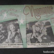 Cine: CINE TEATRO NORMANDIE. LA SERPIENTE DE CASCABEL 1948. UN ESPECTRO TRAVIESO. INDUSTRIA ARGENTINA. Lote 187227495