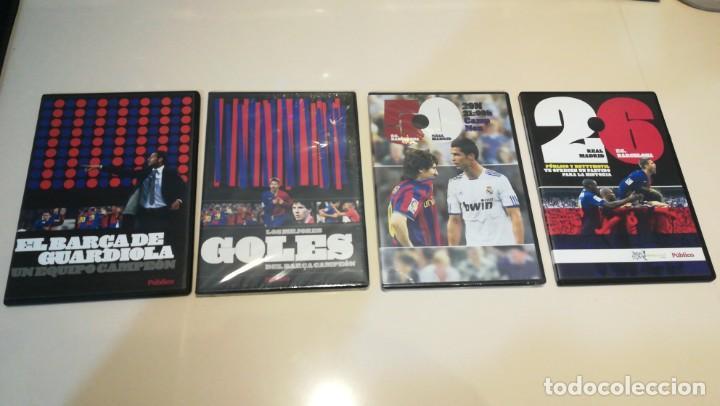 LOTE 4 DVD F. C. BARCELONA EPOCA GUARDIOLA 2 PARTIDOS VS REAL MADRID (Cine - Folletos de Mano - Deportes)