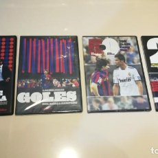 Cine: LOTE 4 DVD F. C. BARCELONA EPOCA GUARDIOLA 2 PARTIDOS VS REAL MADRID. Lote 187238743