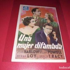 Cine: UNA MUJER DIFAMADA. AÑO 1936. SIN PUBLICIDAD. Lote 187371692