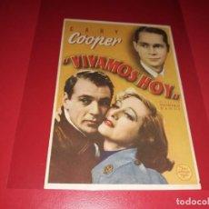 Cine: VIVAMOS HOY CON GARY COOPER. AÑO 1933. SIN PUBLICIDAD. Lote 187372090