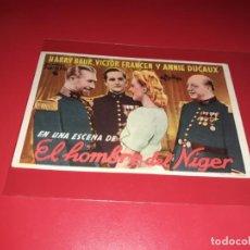 Cine: EL HOMBRE DEL NIGER. AÑO 1940. SIN PUBLICIDAD. Lote 187372425