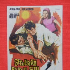 Cine: SECUESTRO BAJO EL SOL, IMPECABLE SENCILLO, JEAN PAUL BELMONDO, C/PUBLI BARTRINA 1965. Lote 187378228