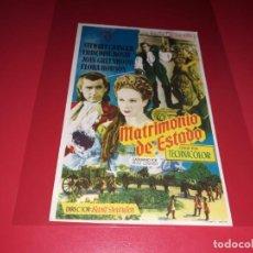 Cine: MATRIMONIO DE ESTADO CON STEWART GRANGER.AÑO 1948. SIN PUBLICIDAD. Lote 187378603