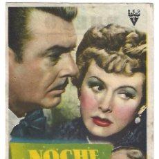 Cine: NOCHE EN EL ALMA - PROGRAMA DE CINE BADALONA C/P. Lote 187378692