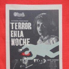 Cine: TERROR EN LA NOCHE, IMPECABLE SENCILLO ORIGINAL, KARIM DOR, SIN PUBLICIDAD. Lote 187379192