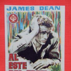 Cine: AL ESTE DEL EDEN, SENCILLO EXCTE. ESTADO, JAMES DEAN, C/PUBLI MONTERROSA. Lote 187380427
