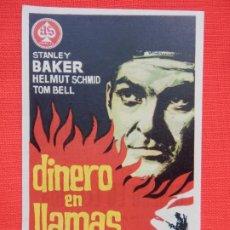 Cine: DINERO EN LLAMAS, IMPECABLE SENCILLO, STANLEY BAKER, S/PUBLI AVENIDA 1964. Lote 187382948