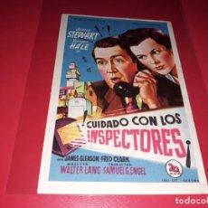 Cine: CUIDADO CON LOS INSPECTORES CON JAMES STEWART. AÑO 1950. SIN PUBLICIDAD. Lote 187383773