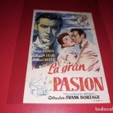 Cine: LA GRAN PASION. AÑO 1946. SIN PUBLICIDAD. Lote 187384013