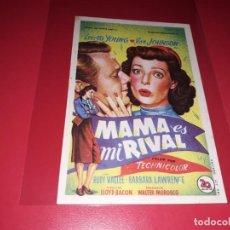 Cine: MAMA ES MI RIVAL. AÑO 1949. SIN PUBLICIDAD. Lote 187384715