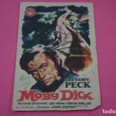 Cine: FOLLETO DE MANO PROGRAMA DE CINE MOBY DICK CON PUBLICIDAD LOTE 26. Lote 187392346