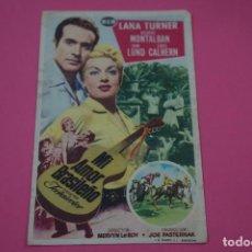 Flyers Publicitaires de films Anciens: FOLLETO DE MANO PROGRAMA DE CINE MI AMOR BRASILEÑO CON PUBLICIDAD LOTE 26. Lote 187392426