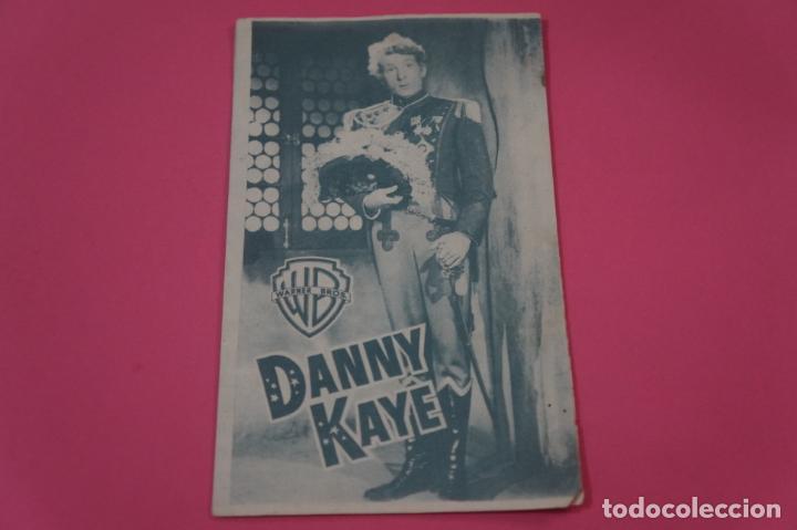 FOLLETO DE MANO PROGRAMA DE CINE DANNY KAYE CON PUBLICIDAD LOTE 26 (Cine - Folletos de Mano - Ciencia Ficción)