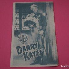 Cine: FOLLETO DE MANO PROGRAMA DE CINE DANNY KAYE CON PUBLICIDAD LOTE 26. Lote 187393000