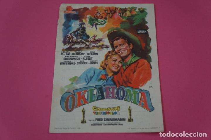 FOLLETO DE MANO PROGRAMA DE CINE OKLAHOMA CON PUBLICIDAD LOTE 26 (Cine - Folletos de Mano - Bélicas)
