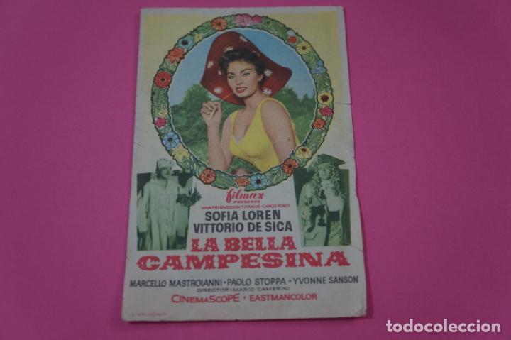 FOLLETO DE MANO PROGRAMA DE CINE LA BELLA CAMPESINA CON PUBLICIDAD LOTE 26 (Cine - Folletos de Mano - Drama)