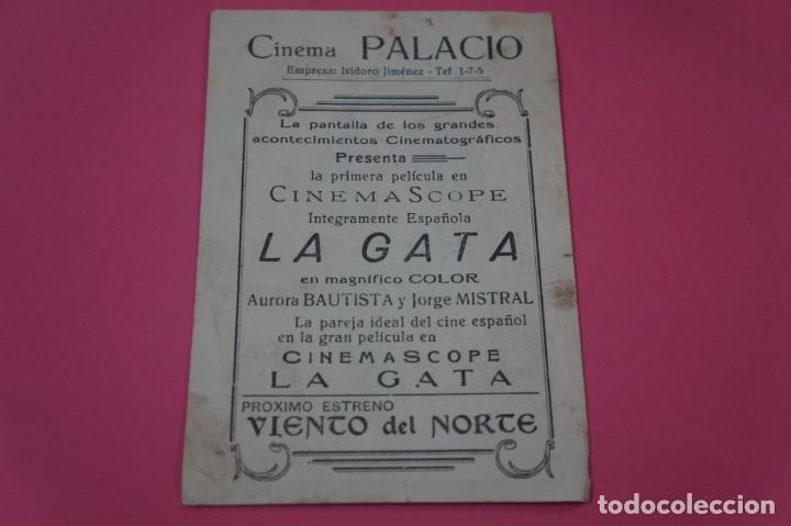 Cine: FOLLETO DE MANO PROGRAMA DE CINE LA GATA CON PUBLICIDAD LOTE 26 - Foto 2 - 187396710